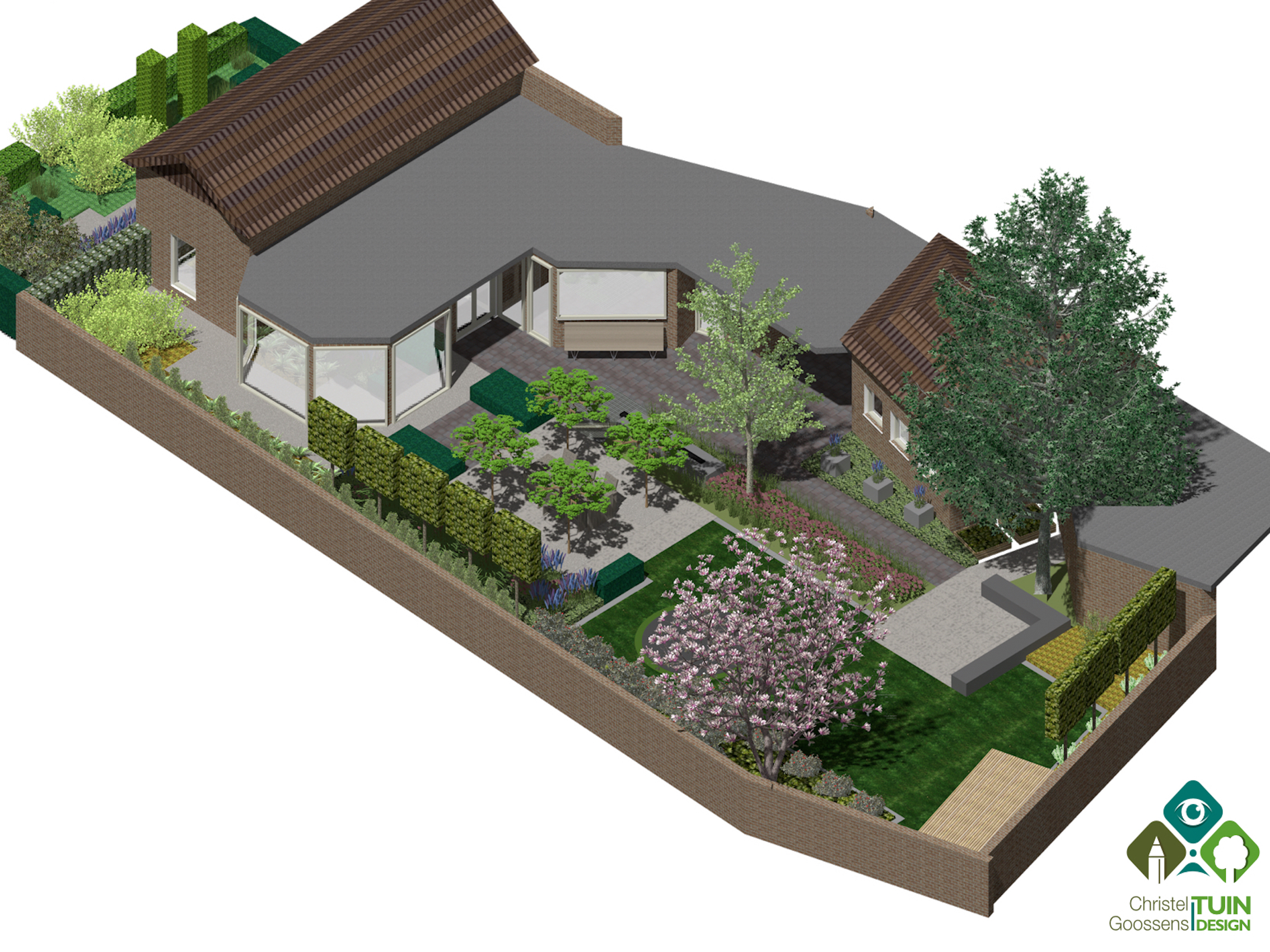 Tuinontwerpen tuinontwerp berlicum for 3d tuin ontwerpen