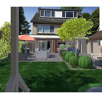 3D tekening tuin